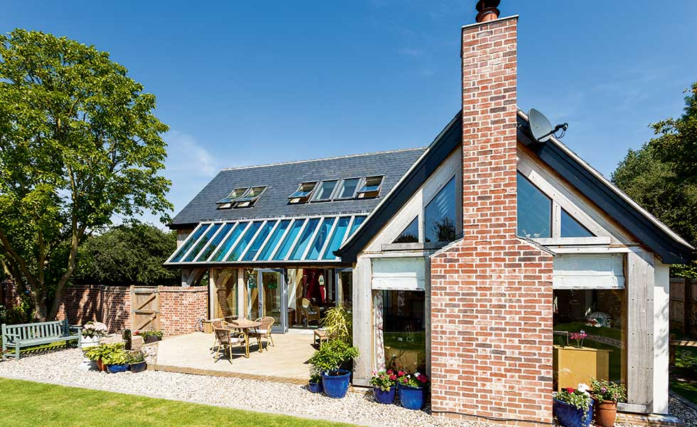 Sips and oak frame home homebuilding renovating for Sip house
