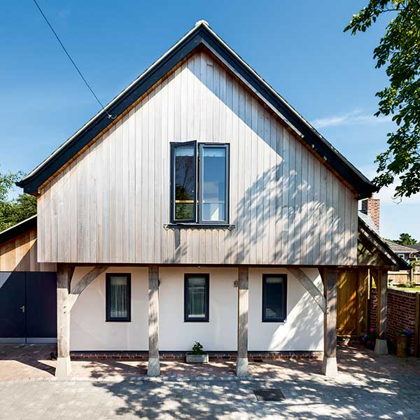 timber clad sips home