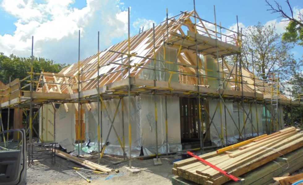timber frame self build home building built