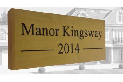 manor kingsway signage
