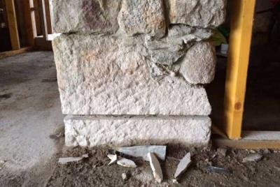 Junction between wall and floor