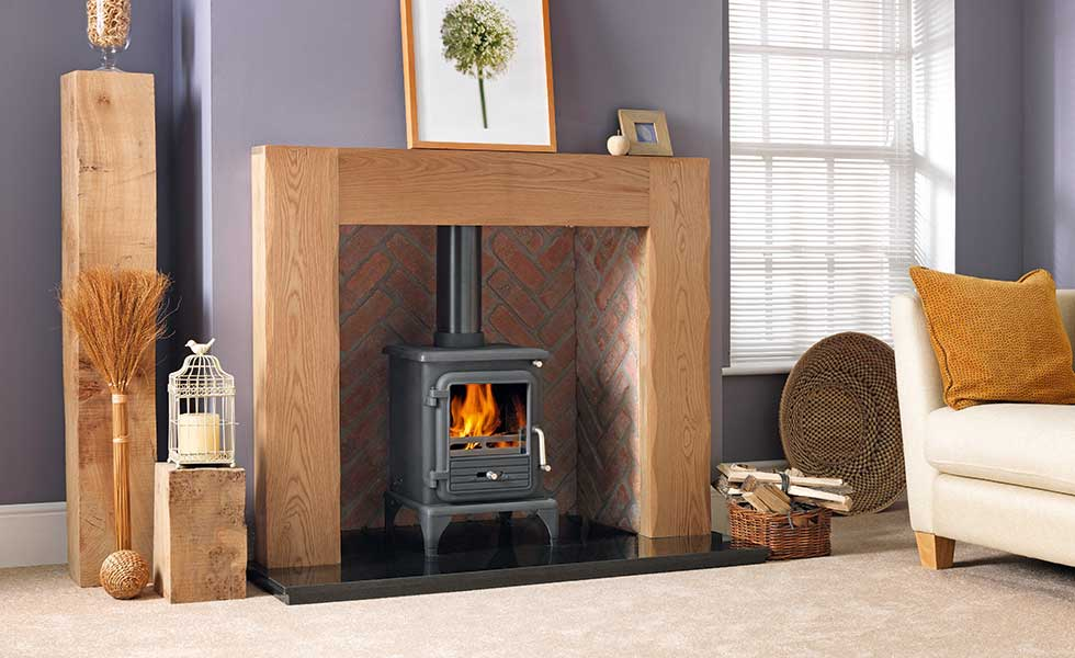 Percy Doherty's oak fire surround