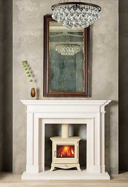 Carved from limestone, the classic looking Burlington fire surround from Chesney's