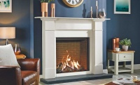 Reflex fire surround from Stovax with Gazco fire