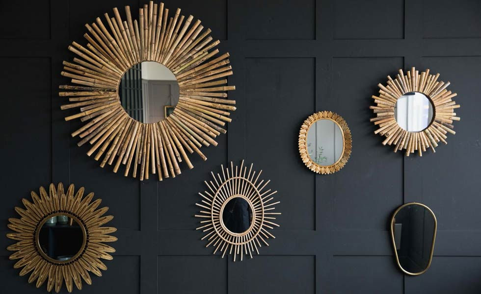 rose & grey home accessories mirrors