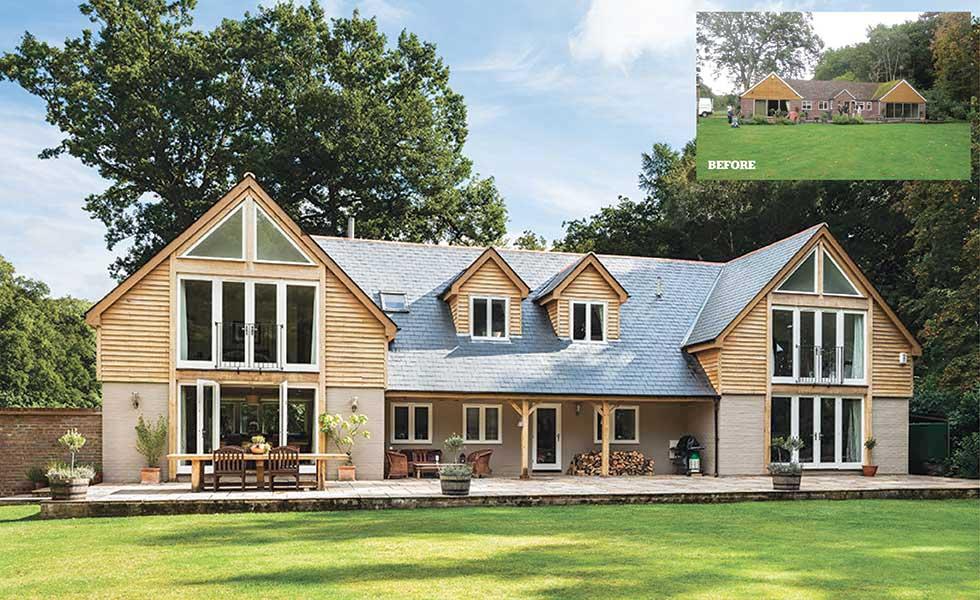 An oak clad bungalow remodel