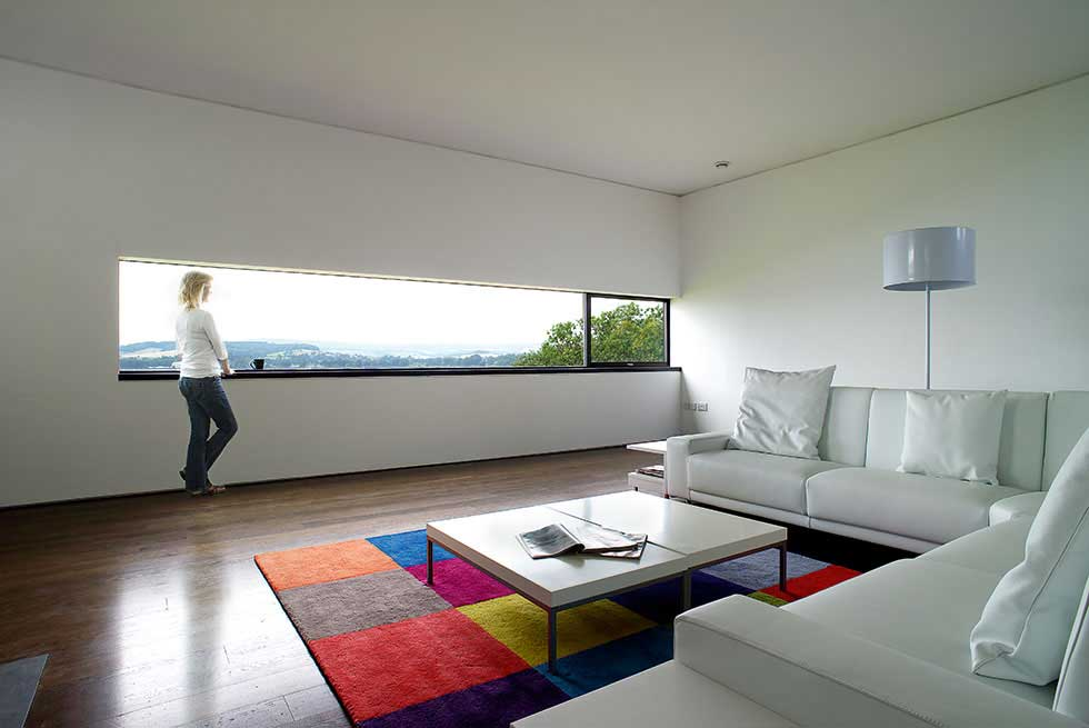 Large long window with view