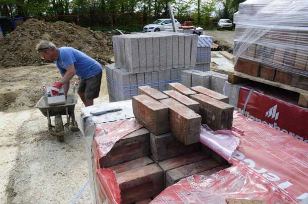 bricks and material deliveries