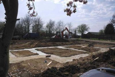 The footings ready for foundations to be built