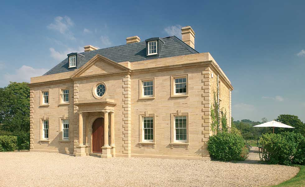 Jeremy Kirwan Taylor – Locally sourced Hamstone has been used to build this traditional new home