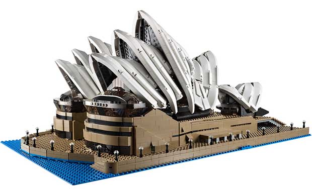 Sydney Opera House built out of Lego