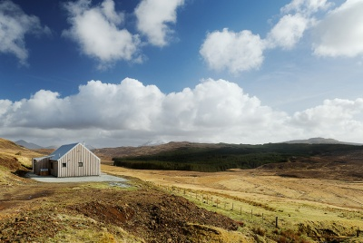 a timber clad home in Scotland