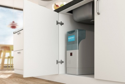 harvey water softener unit installed