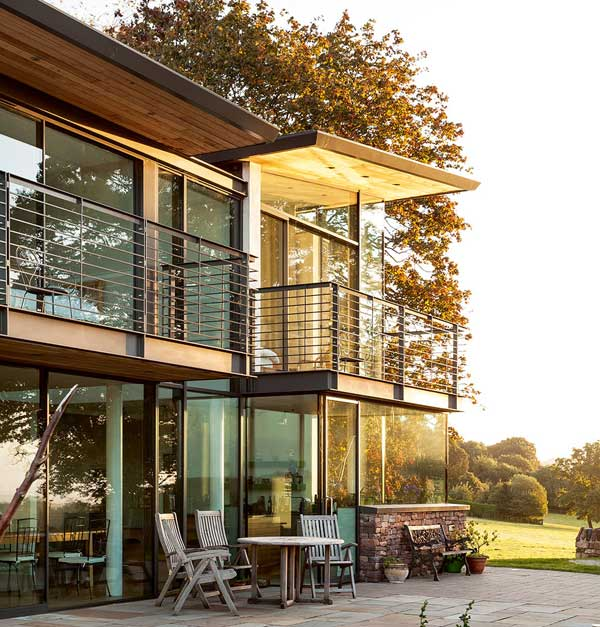 Exterior of a contemporary new build house