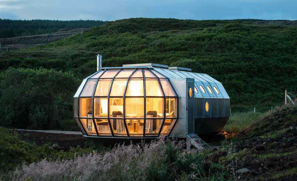 prefabricated aluminium and stainless steel small home