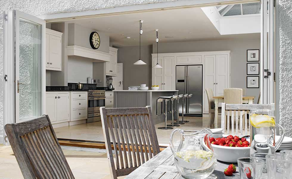 Martin Moore kitchen diner with bi-fold doors