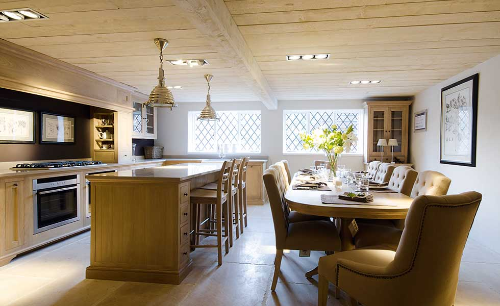 Traditional kitchen dinerTop 10 Kitchen Diner Design Tips   Homebuilding   Renovating. Pictures Of Open Plan Kitchen And Dining Room. Home Design Ideas