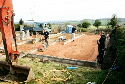 digging foundations trenches for new home