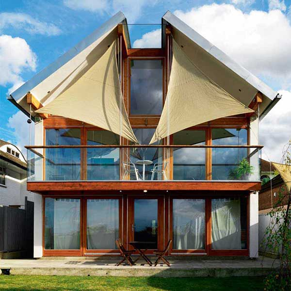 eco friendly self build with sail features