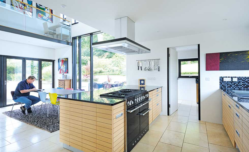 Contemporary open plan kitchen diner