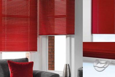 sunflex blinds red Swish Aluminium Venetian Blind