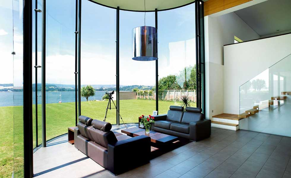 stunning riverside views from living room