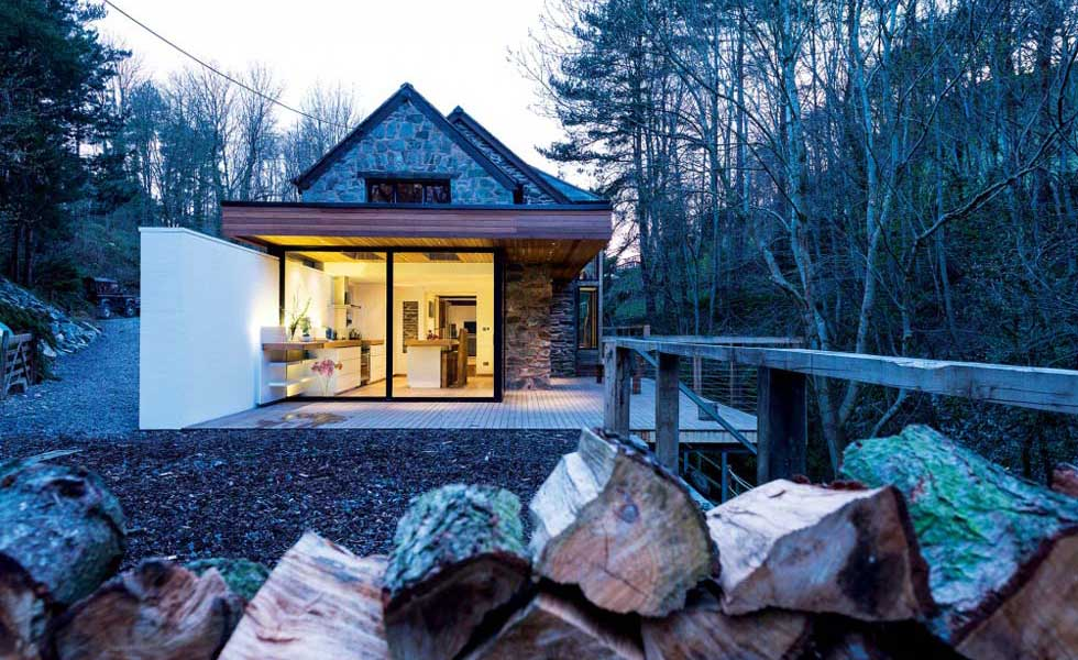 waterside wooden property