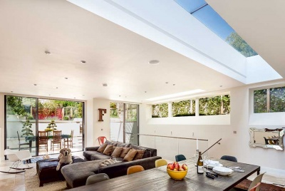 clerestorey windows and rooflight modern extension