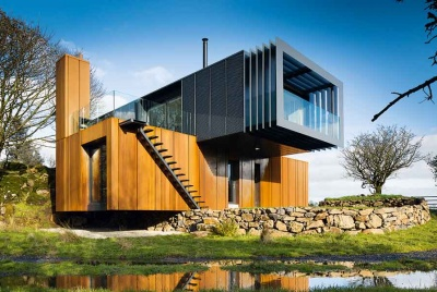 This budget self build has been built using shipping containers