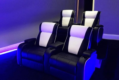 lawton imports home cinema chairs blue lighting
