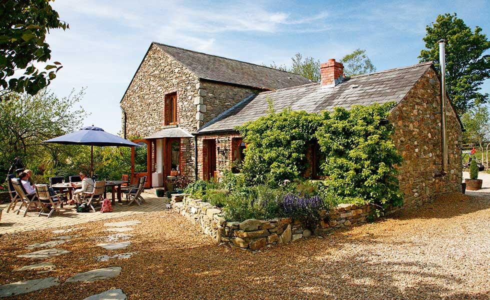 traditional flint farmhouse self build