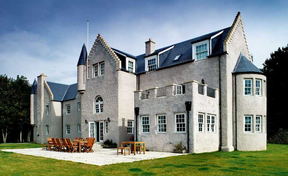 Baronial style self build home