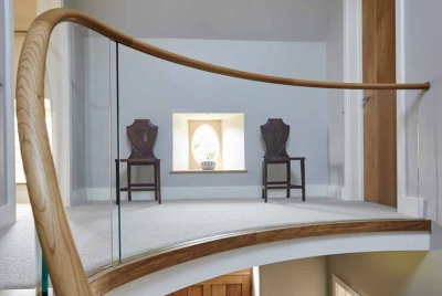 bisca staircases landing balustrade two chairs