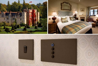 hamilton anne boleyn chequered throw castle light switches