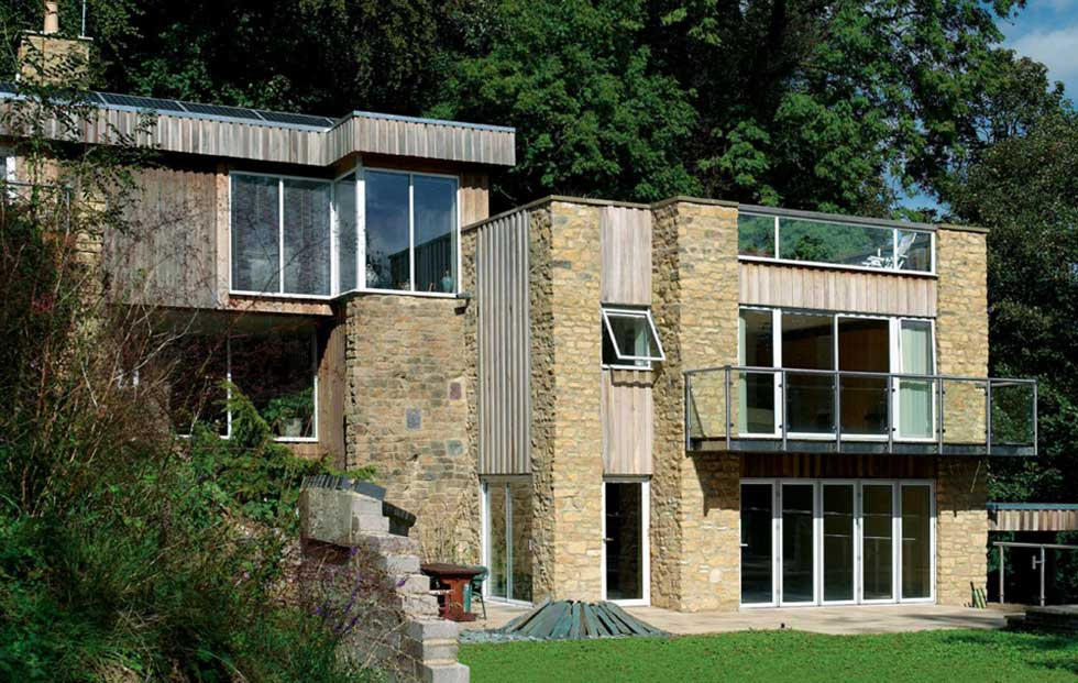 seventies Cotswold stone self build