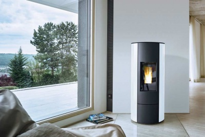 organic energy white and black wood burner
