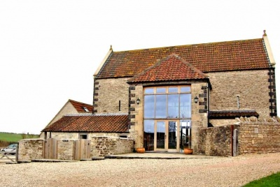 puckle barn main entrance gravel drive glass front