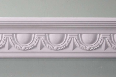 plaster ceiling roses white scalloped design