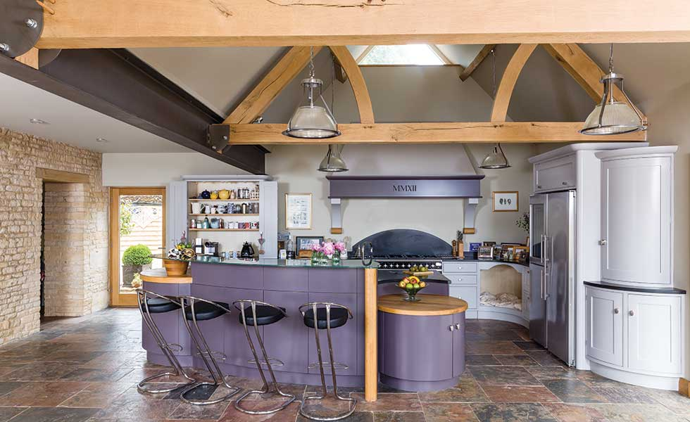 Nice Barn Conversion Shaker Style Kitchen With Exposed Timber Beams Part 12