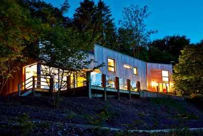 This stunning woodland home from CDMS Architects is the ideal holiday home