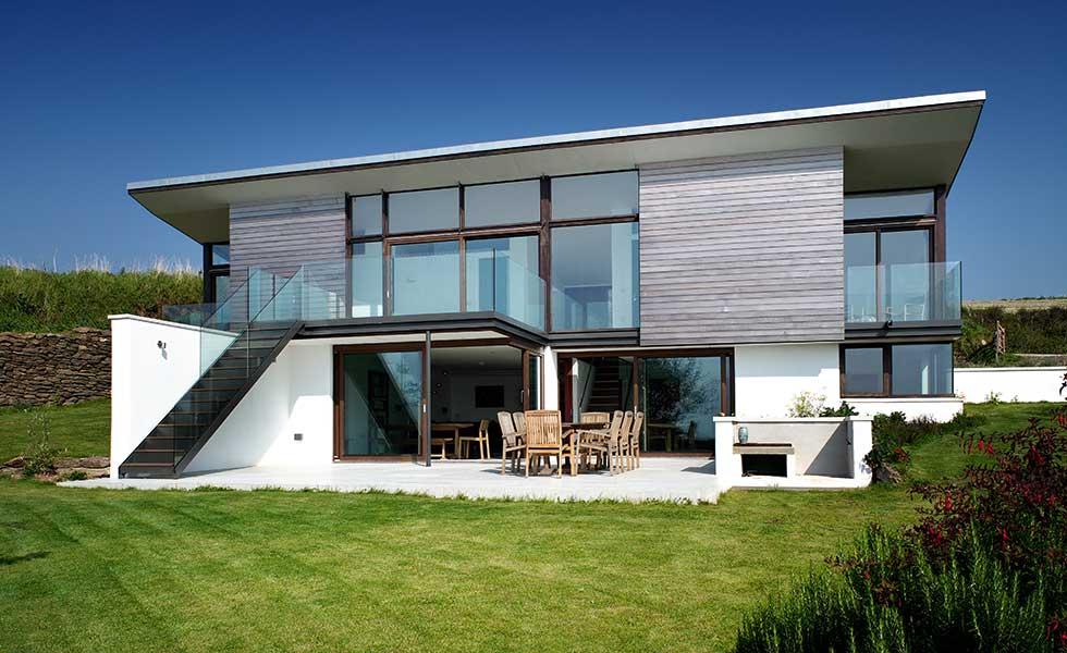 A contemporary sea front self build by Annie Martin Architect