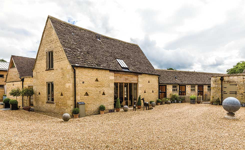 A Cotswold-stone barn conversion in Gloucestershire