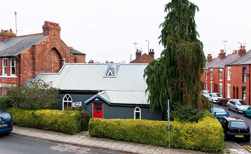 A renovated and converted tin chapel in Chester