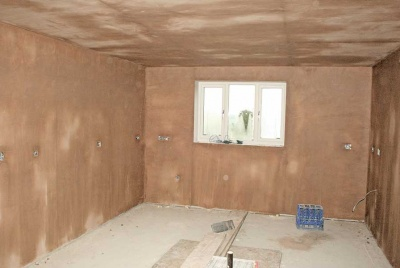 Plastering the interiors gets underway in David's self-build project