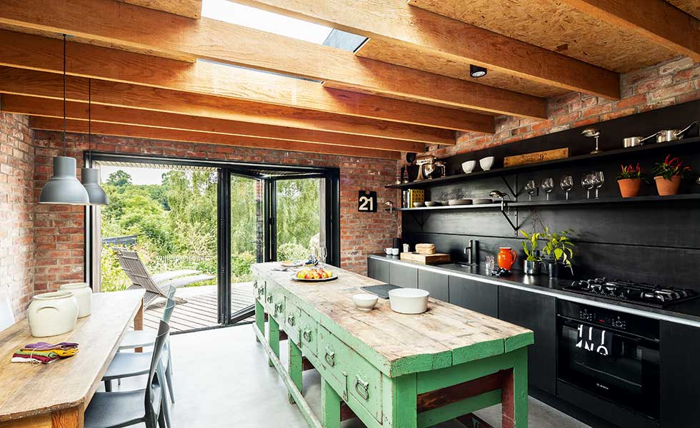Kitchen extension to a period cottage