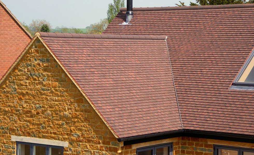 redland roofing roof with red clay tiles