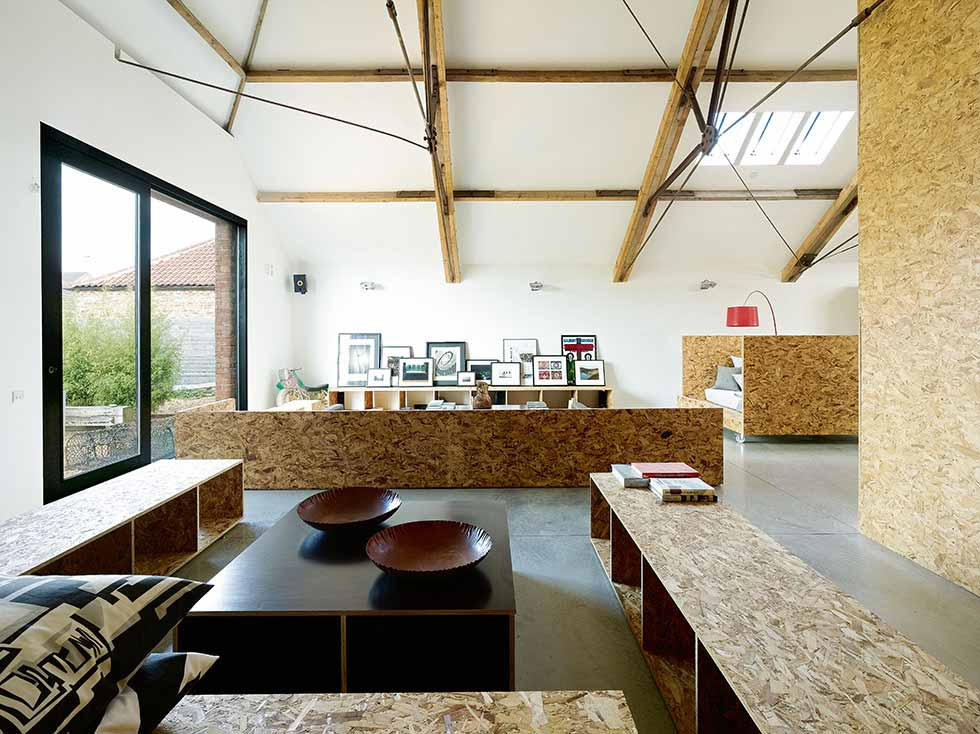 contemporary conversion of a threshing barn