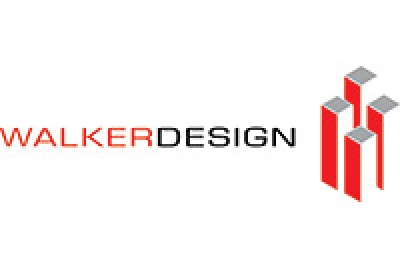 walker design logo red grey