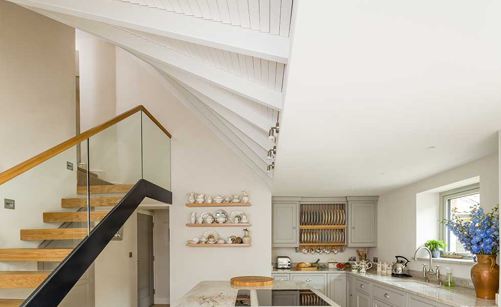 twisting staircase in new extension