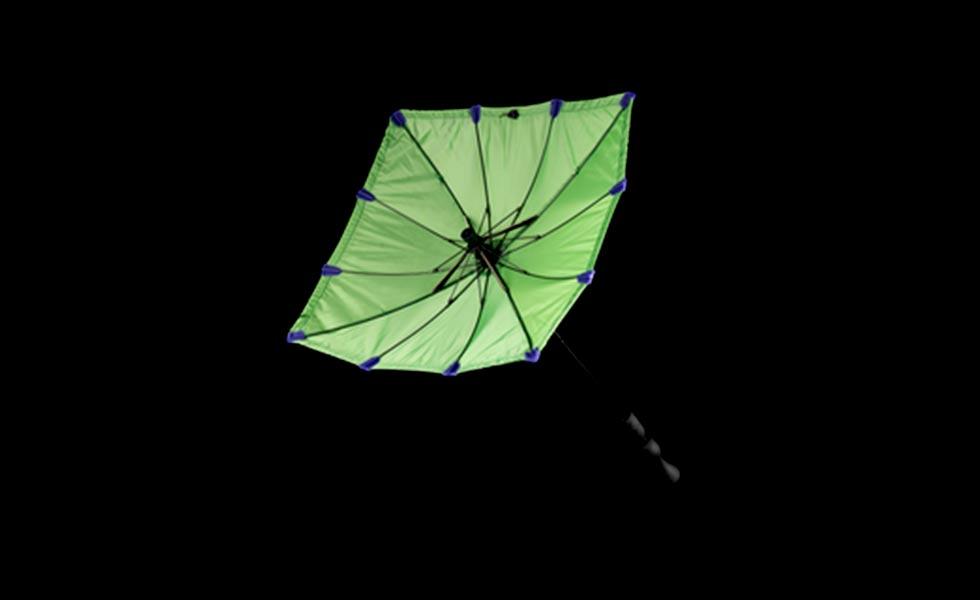 chimney umbrella green